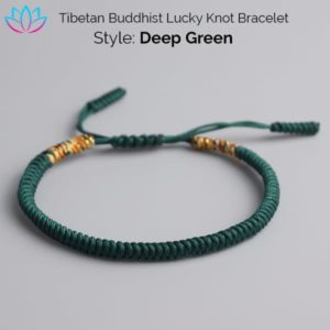 Green Tibetan Buddhist Lucky Knot