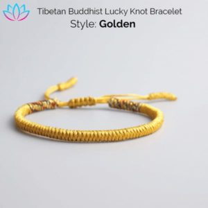 Golden Tibetan Buddhist Lucky Knot
