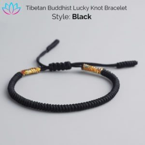 Black Tibetan Buddhist Lucky Knot