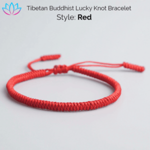 Red Tibetan Buddhist Lucky Knot