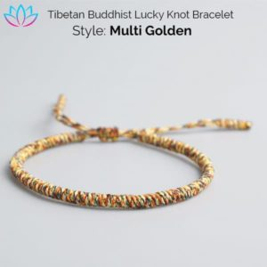 Multicolored Tibetan Buddhist Lucky Knot Bracelet