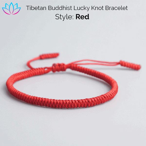 Handmade Tibetan Buddhist Lucky Knot Bracelets