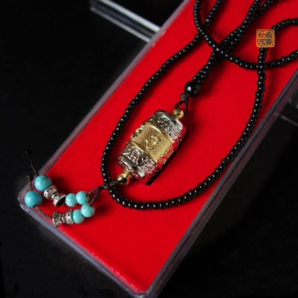 Buddhism Prayer Wheel Necklace