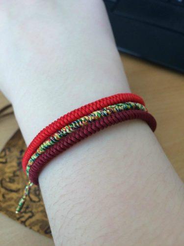 Handmade Tibetan Buddhist Lucky Knot Bracelets - All Sets photo review