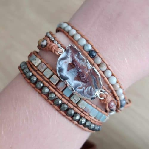 Ancient Wisdom Druzy Quartz Bracelet photo review