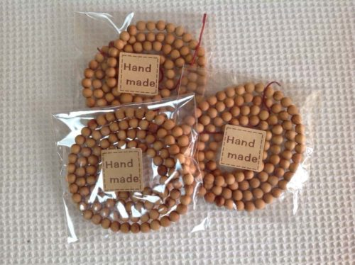 Natural Round Wood Mala Beads photo review