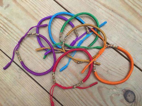 7 Chakra Handmade Tibetan Buddhist Lucky Knot Bracelet Set photo review