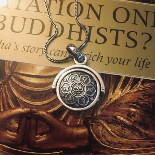 Silver Buddhist Sutra Rotating Pendant photo review