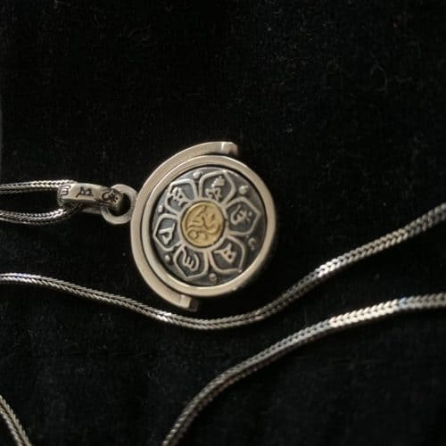 Silver Buddhist Mantra Spinning Pendant photo review